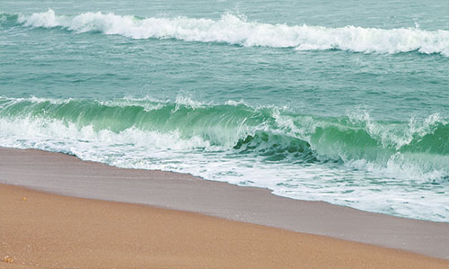 Sea beach near Nuanai Nature Camp (Puri)