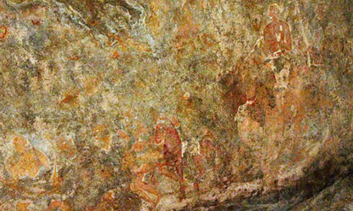 Sitabinji- Fresco paintings on a Rock Shelter called Ravan Chhaya