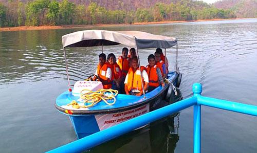 Boating at Sarafgarh Nature Camp