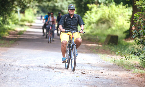 Cycling tour at Satkosia Sands Resort