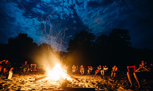 Camp Fire at Satkosia Sands Resort