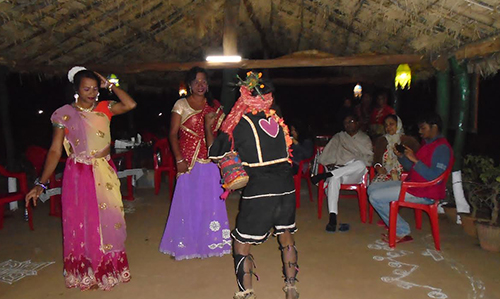 local Folk dance at Satkosia Sands Resort